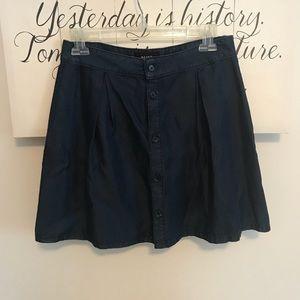 Paige Soft Denim Button down Skirt Sz S